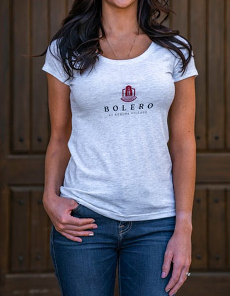 Bolero Womens Scoop Neck Tee - Light Grey
