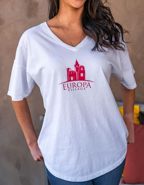 Europa Village Womens V Neck Tee